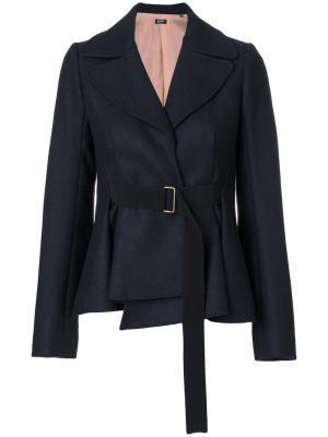 Приталенный пиджак под пояс Jil Sander Navy. Цвет: синий