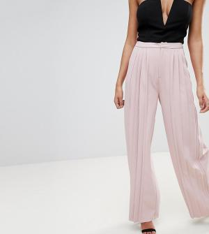 Missguided Плиссированные широкие брюки. Цвет: бежевый