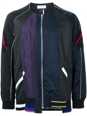 Куртка ветровка на молнии Facetasm. Цвет: чёрный
