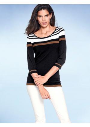 Пуловер ASHLEY BROOKE by Heine. Цвет: черный/коньячный