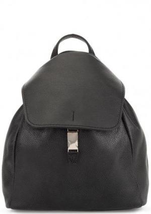 Кожаный рюкзак с откидным клапаном Gianni Chiarini. Цвет: черный