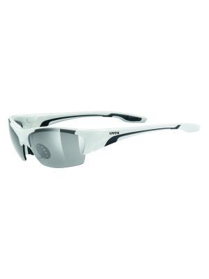 Солнцезащитные очки Uvex. Цвет: белый, черный