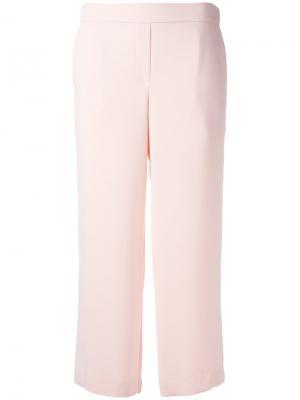 Укороченные прямые брюки P.A.R.O.S.H.. Цвет: розовый и фиолетовый