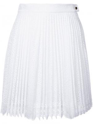 Кружевная юбка Antonio Berardi. Цвет: белый