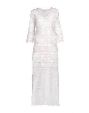 Длинное платье TEMPTATION. Цвет: белый