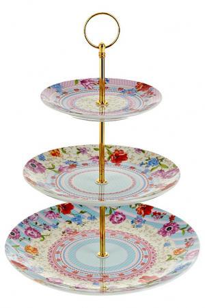 Блюдо, 25,5 см,20 см,15 см Nouvelle. Цвет: бежевый, голубой, розовый