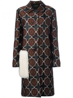 Жаккардовое пальто Ter Et Bantine. Цвет: чёрный