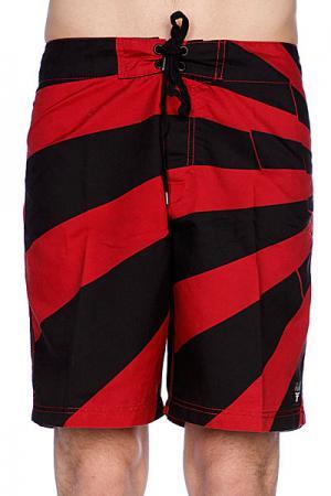 Пляжные мужские шорты  Board Short Rising Sun Fallen. Цвет: черный,красный