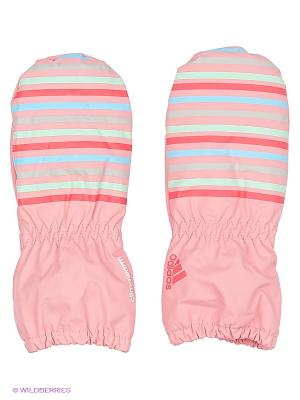 Варежки INF MITTENS G Adidas. Цвет: розовый