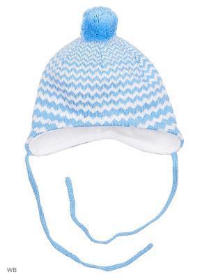 Шапка MAXIMO. Цвет: светло-голубой, белый