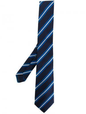 Полосатый галстук Borrelli. Цвет: синий