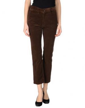 Повседневные брюки GOLD CASE. Цвет: какао