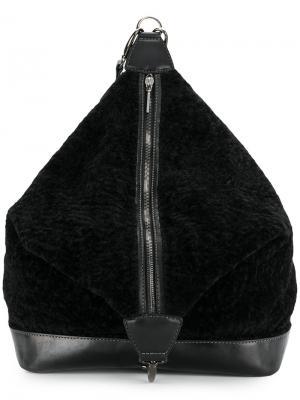 Меховой рюкзак на молнии Jamin Puech. Цвет: чёрный