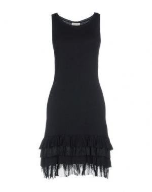 Короткое платье LIST. Цвет: темно-синий
