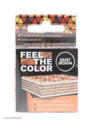 Наклейки для декорирования Autumn Mix of FEEL THE COLOR Daisy Design. Цвет: оранжевый