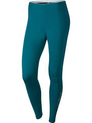 Тайтсы W NSW LGGNG LOGO CLUB FUTURA Nike. Цвет: синий, желтый