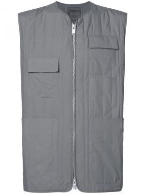 Жилет с несколькими карманами Siki Im. Цвет: серый