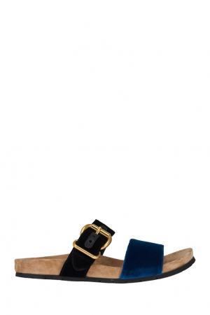 Бархатные сандалии Prada. Цвет: multicolor