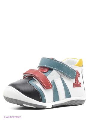 Туфли Alaska Originale. Цвет: морская волна, белый, черный