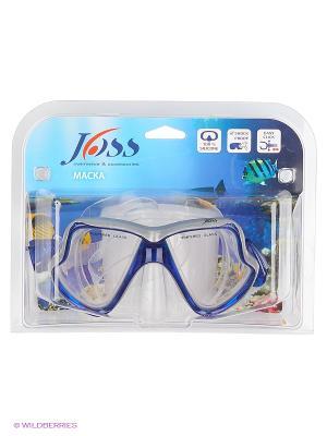 Маска для плавания JOSS. Цвет: синий