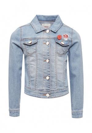 Куртка джинсовая Catimini. Цвет: голубой