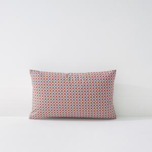 Наволочка или на подушку-валик MASHITA La Redoute Interieurs. Цвет: в клетку синий/коралловый,желтый