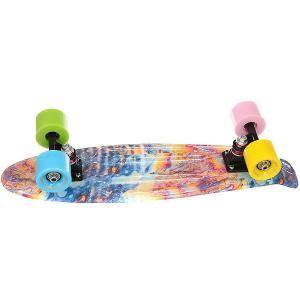Скейт мини круизер Turbo-Fb Abstraction Multi 6 x 22 (56 см). Цвет: мультиколор
