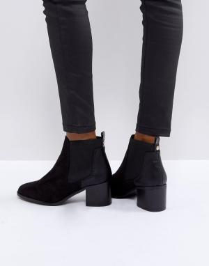 River Island Ботинки челси на каблуке. Цвет: черный