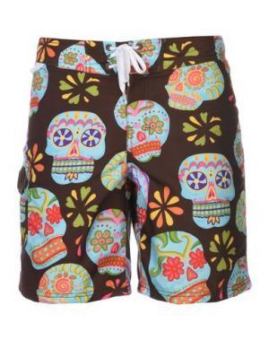 Пляжные брюки и шорты SUNDEK. Цвет: темно-коричневый