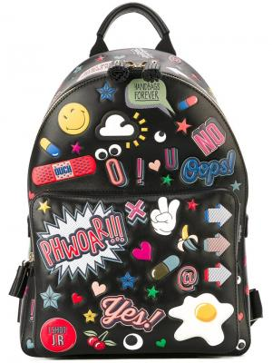 Рюкзак All Over Stickers Anya Hindmarch. Цвет: чёрный
