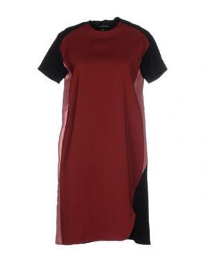 Короткое платье OSTWALD HELGASON. Цвет: красно-коричневый