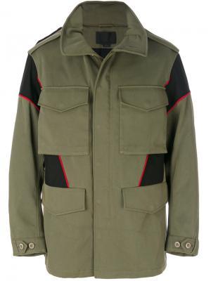Куртка с накладными карманами Alexander Wang. Цвет: зелёный