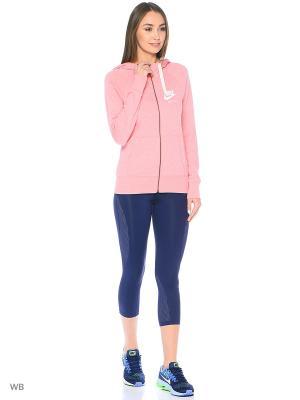 Толстовка W NSW GYM VNTG HOODIE FZ Nike. Цвет: розовый