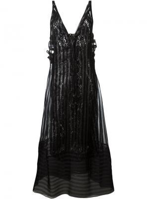Длинное платье в полоску Nº21. Цвет: чёрный