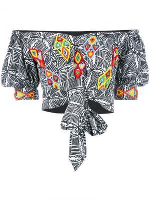 Блузка Malika с открытыми плечами All Things Mochi. Цвет: чёрный
