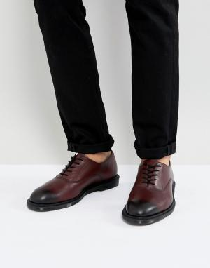 Dr Martens Вишнево-красные ботинки Fawkes Temperley. Цвет: красный