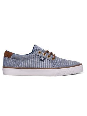 Кеды DC Shoes. Цвет: коричневый,синий