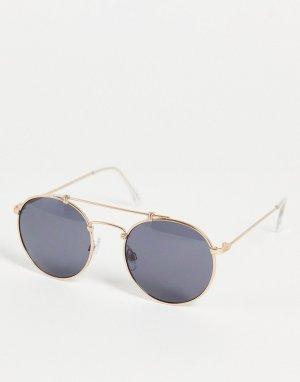Солнцезащитные очки в золотистой оправе Henderson-Желтый Vans