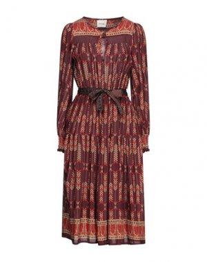 Платье до колена DIXIE. Цвет: красно-коричневый