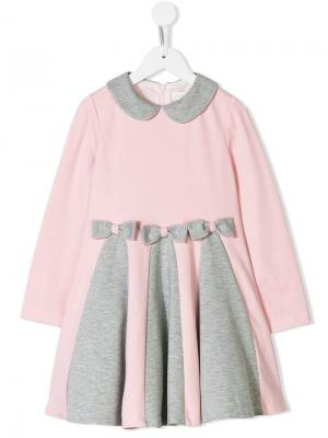 Платье топ с воротником Питер Пэн Bimbalo. Цвет: розовый