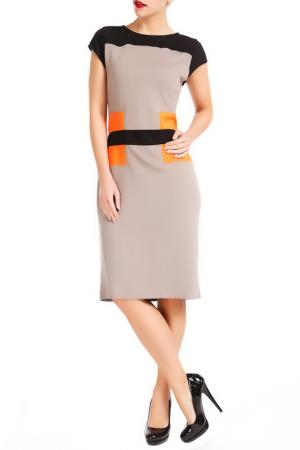 Dress Collezione di Ines. Цвет: grey black orange