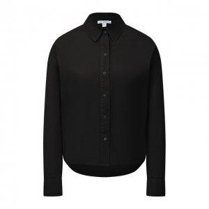 Хлопковая рубашка James Perse. Цвет: чёрный