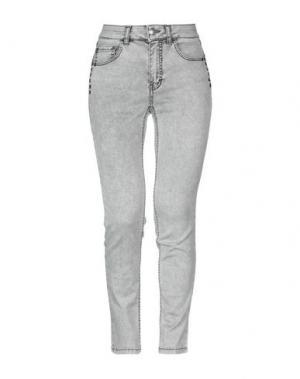 Джинсовые брюки MARANI JEANS. Цвет: серый