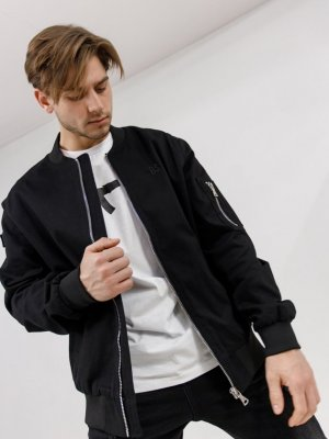 Куртка-бомбер Патриот Black Star Wear. Цвет: черный