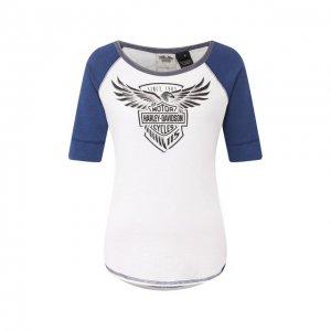 Хлопковая футболка Genuine Motorclothes Harley-Davidson. Цвет: белый