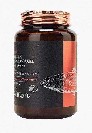 Сыворотка для лица Farm Stay с маслом лосося и пептидами 250 мл. Цвет: белый