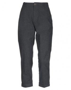 Повседневные брюки CARE LABEL. Цвет: стальной серый