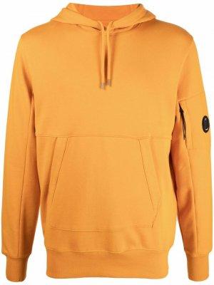 Худи с нашивкой-логотипом C.P. Company. Цвет: оранжевый