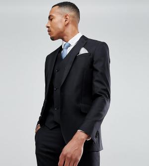 Узкий черный пиджак из 100% шерсти ASOS TALL DESIGN