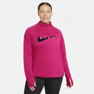 Женская беговая футболка Nike Swoosh Run (большие размеры) - Красный